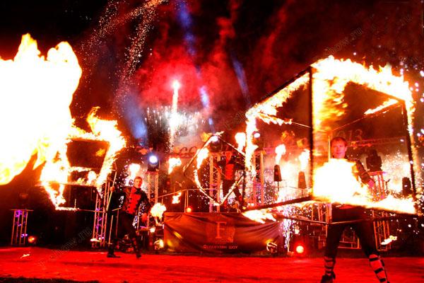 Огненное, световое шоу